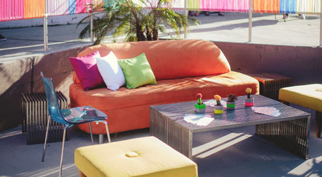 Outdoor furniture at The Knot Mixer